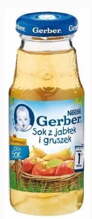 Gerber- сок 100% ябълка и круша 175ml