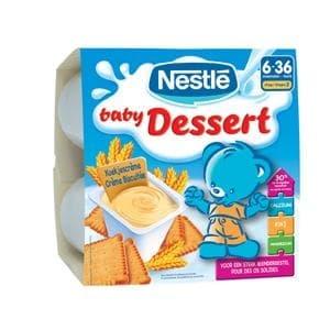 Nestle baby dessert с бисквити 4х100гр