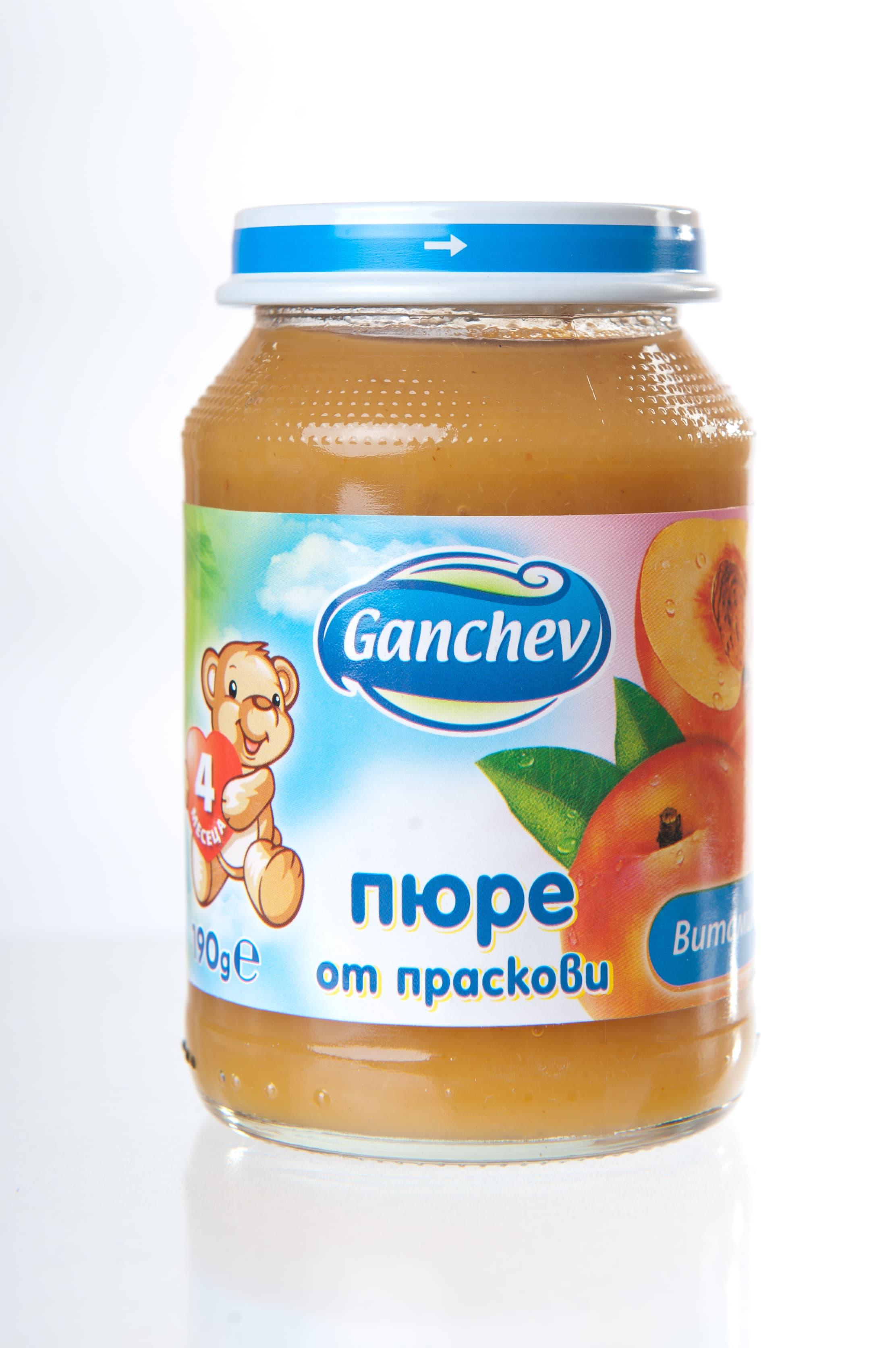 Ganchev-пюре праскови 4м+ 190гр