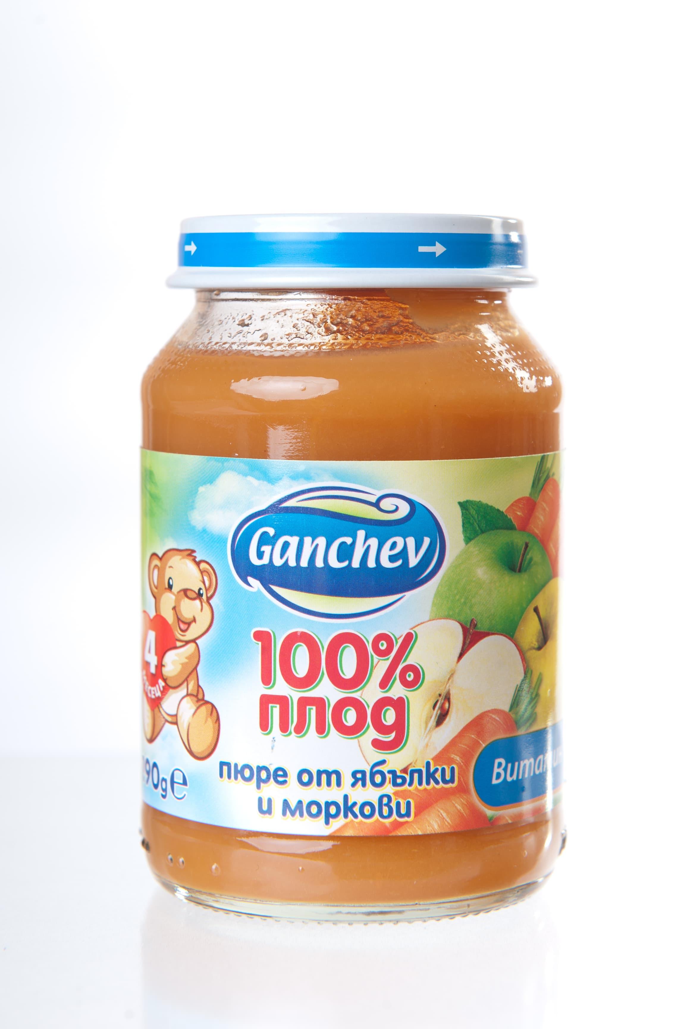 Ganchev-пюре ябълка и морков 4м+ 190гр