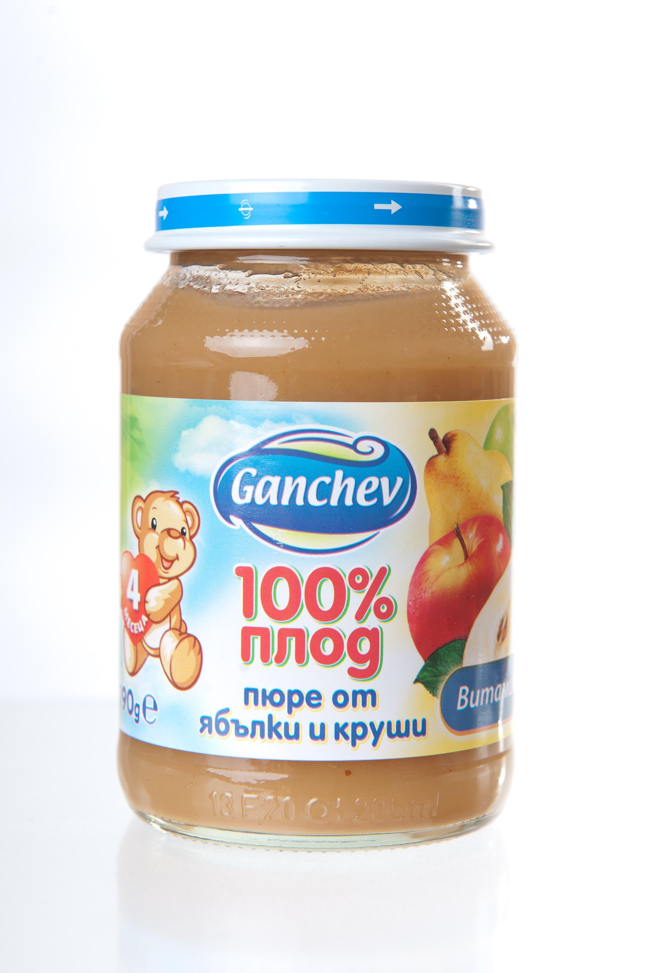 Ganchev-пюре ябълки и круши 4м+ 190гр