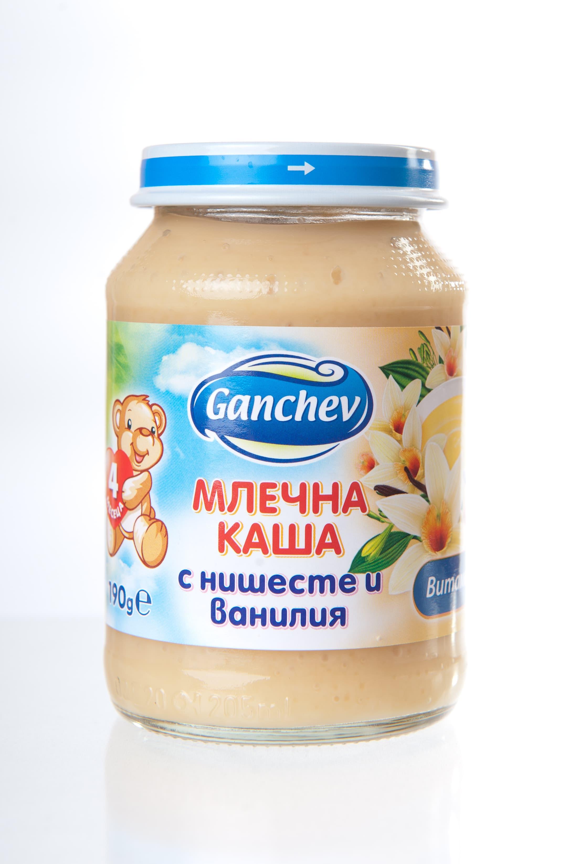 Ganchev-млечна каша с нишесте и ванилия 4м+190гр