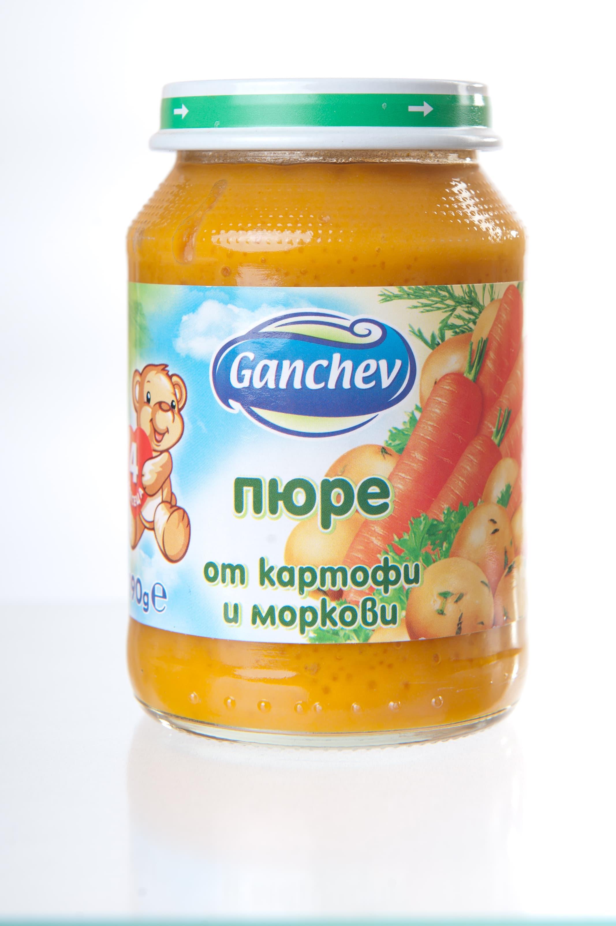 Ganchev-пюре картофи и моркови 4м+ 190гр