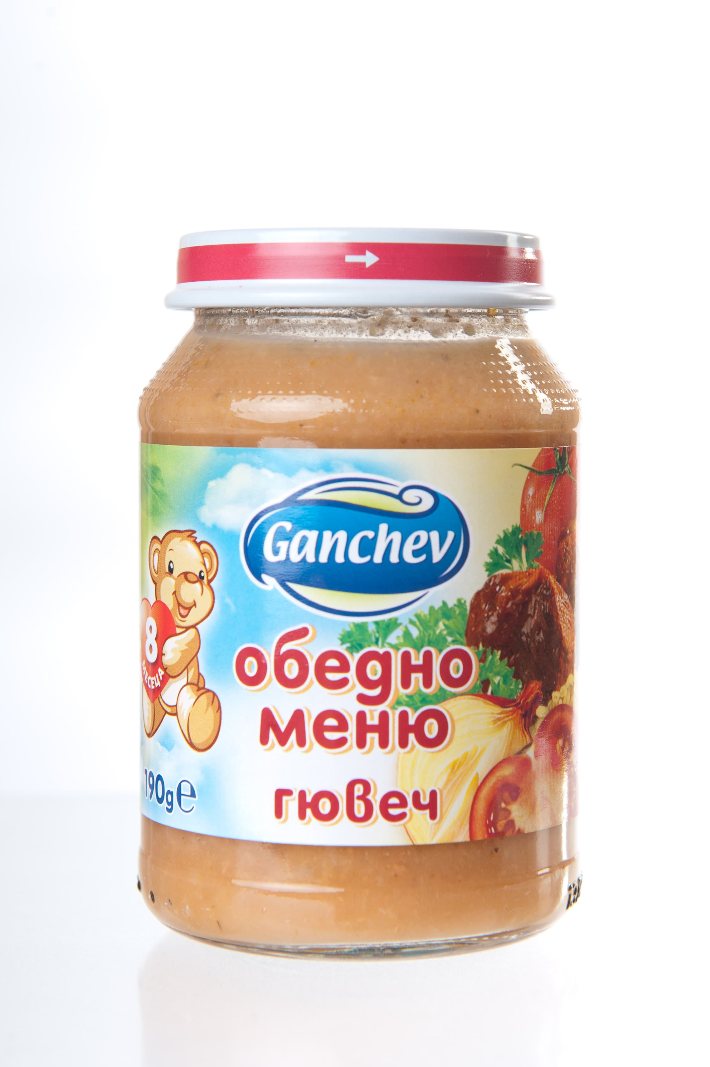 Ganchev-пюре обедно меню гювеч 8м+ 190гр