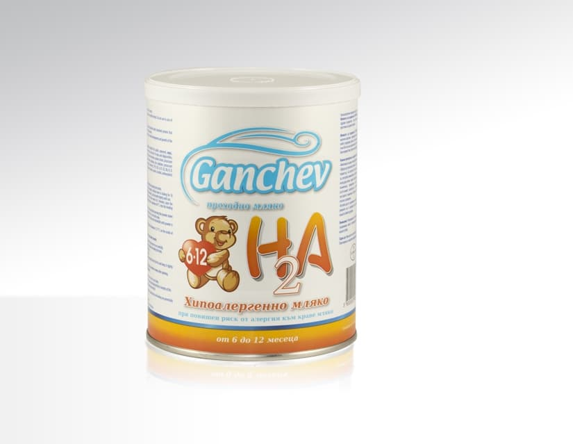 Ganchev HA2-хипоалергенно мляко 6-12м 400гр