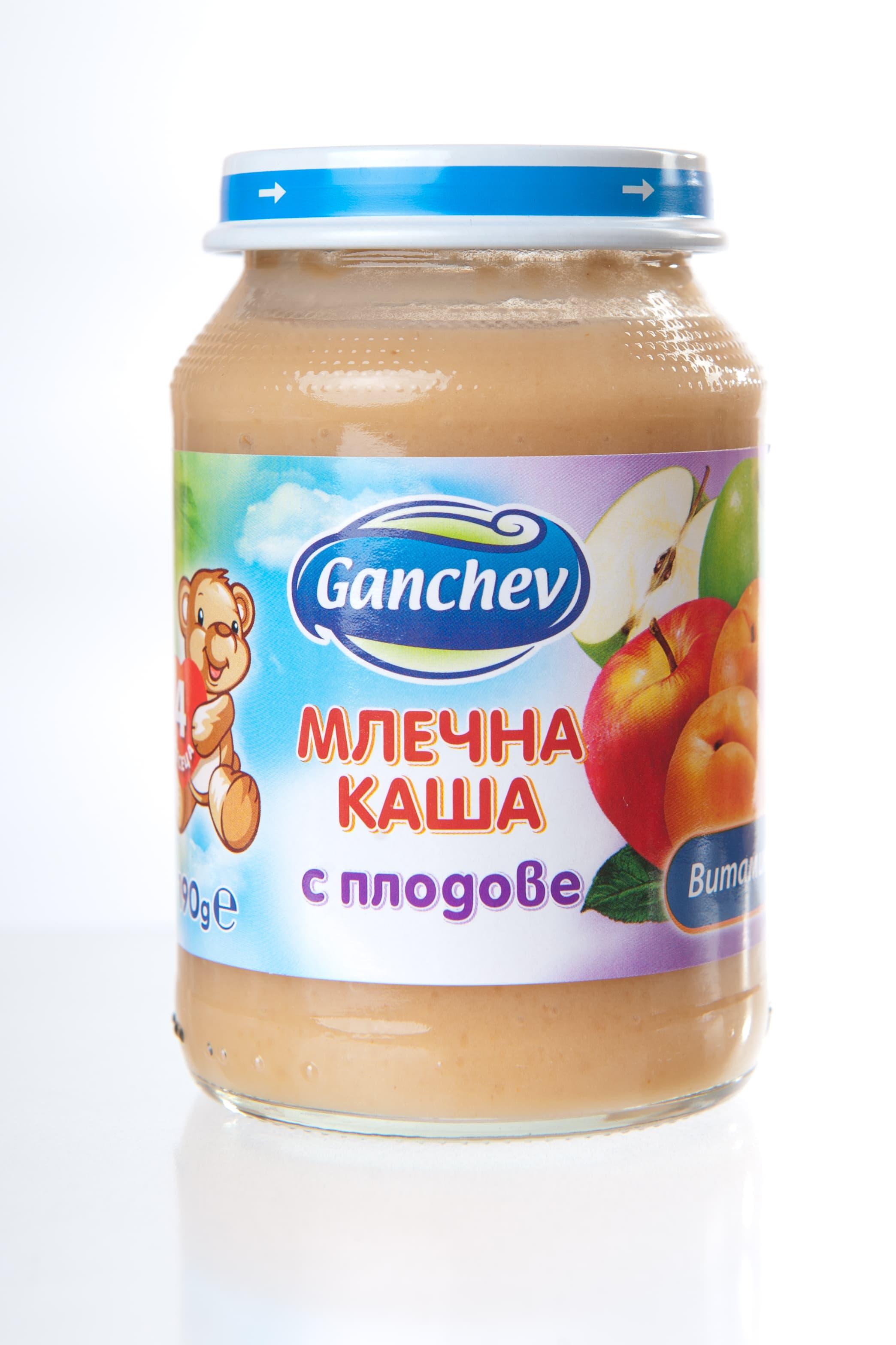 Ganchev-млечна каша с плодове 4м+190гр