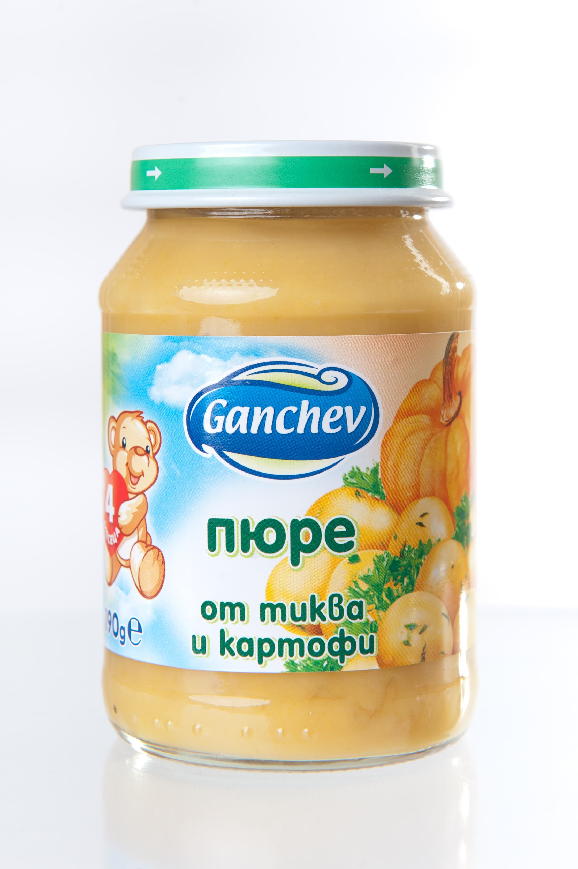 Ganchev-пюре тиква и картофи 4м+ 190гр