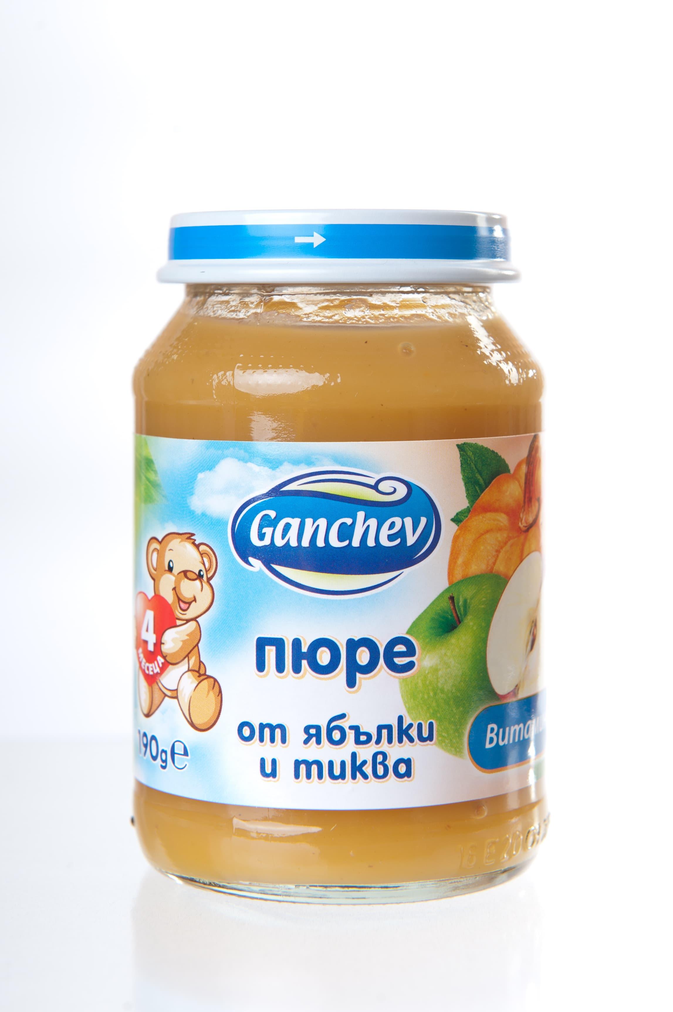 Ganchev-пюре ябълки и тиква 4м+190гр