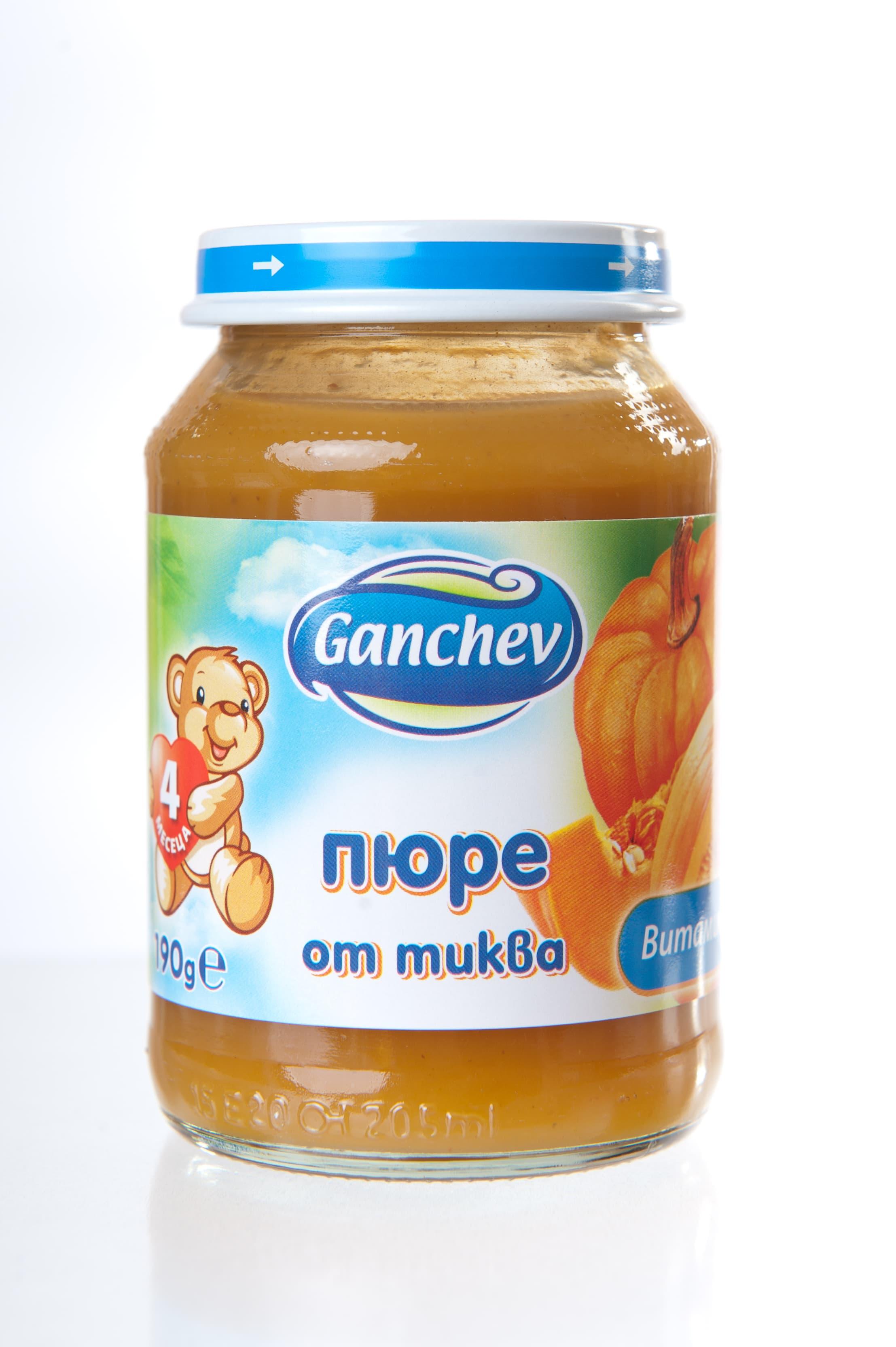 Ganchev-пюре от тиква 4м+190гр