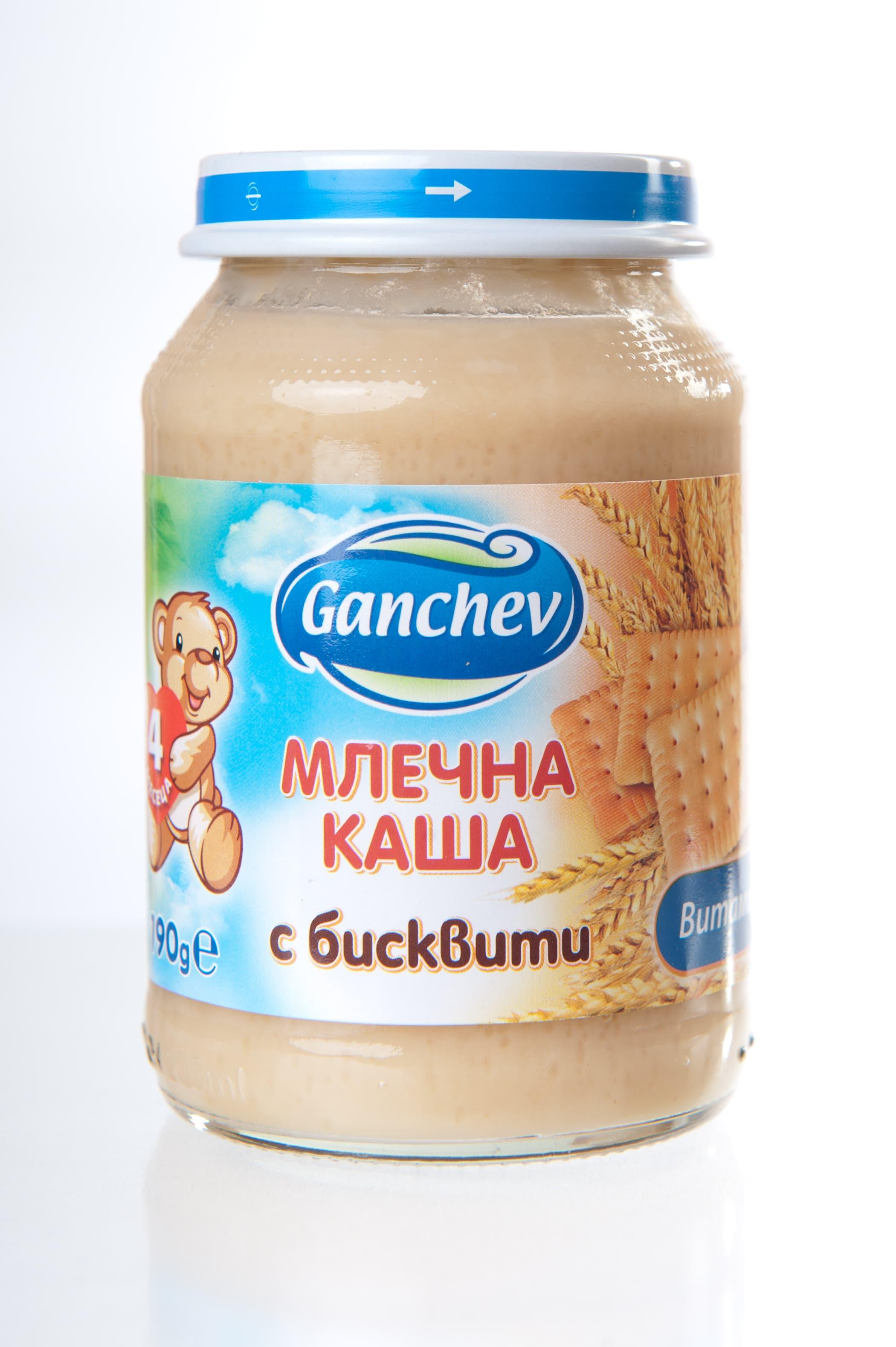 Ganchev-млечна каша с бисквити 4м+190гр