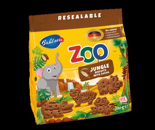 Leibniz-какаови бисквити Zoo jungle