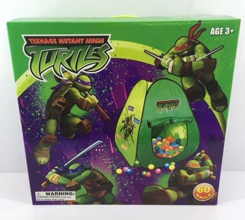 Палатка за игра с 60 топки Nunja Turtles