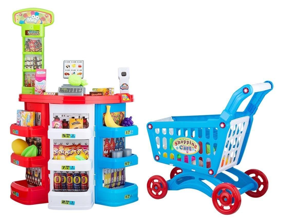 Супермаркет с количка за пазаруване 86ч