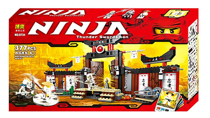 Ninjago-конструктор Thunder swordsman 377ч