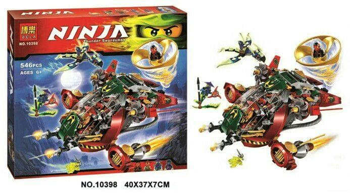 Ninjago-конструктор Thunder swordsman 546ч