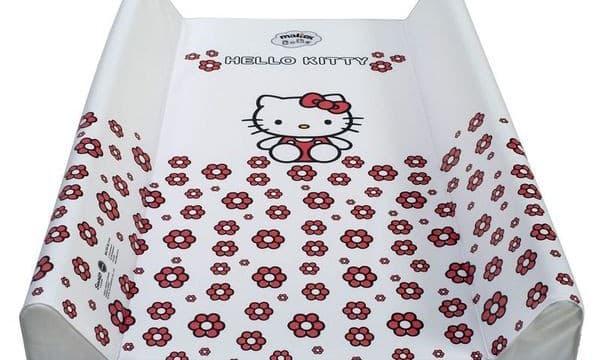 Мека подложка за повиване 50х70 Hello Kitty-бял