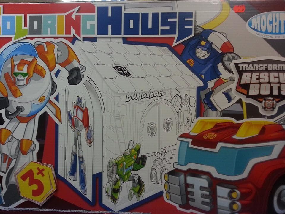 Картонена къща за оцветяване Mochtoys