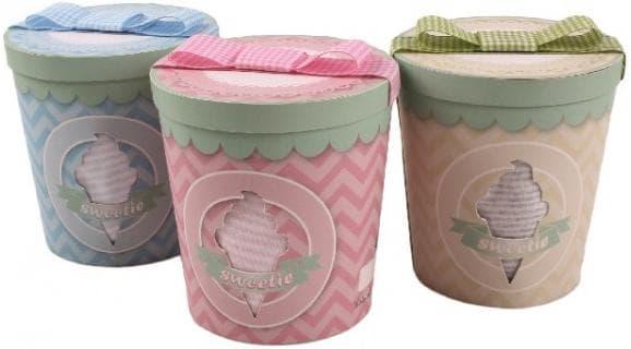 Minene-Подарък за новородени в кутия Сладолед