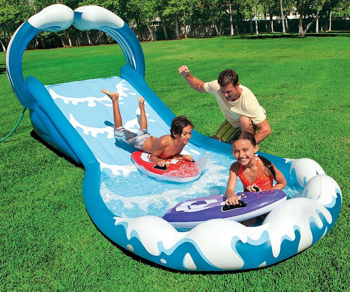 Intex-надуваем център за игра с пързалка Surf'n slide 57469