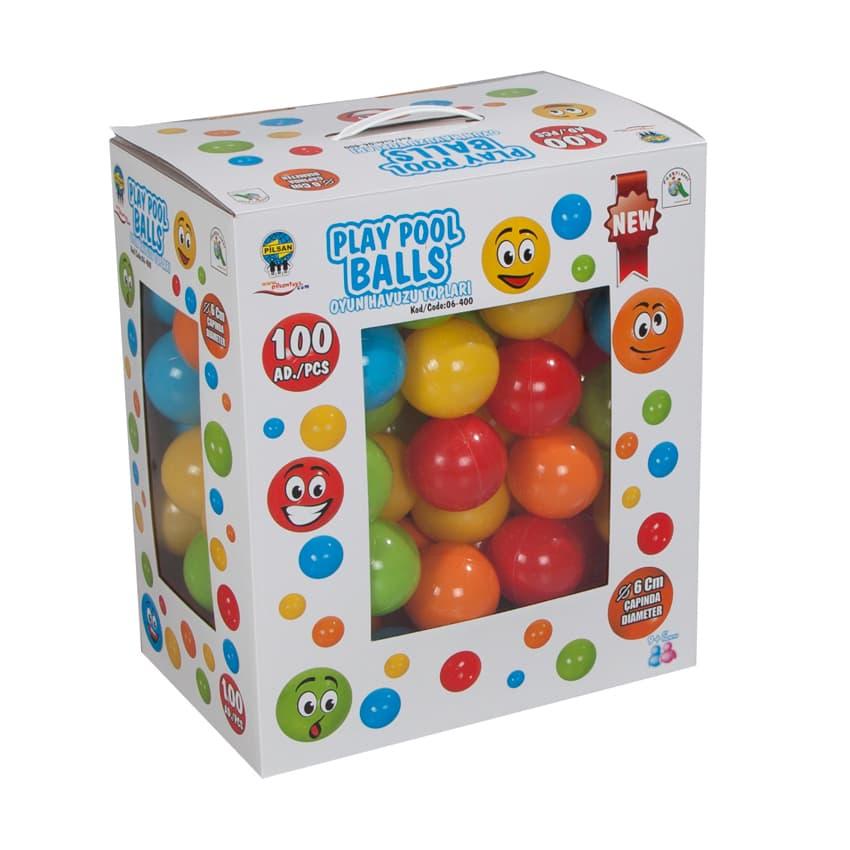 Топки за игра 100бр в кутия Pilsan