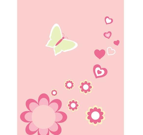 Детско одеало Пеперуди 809