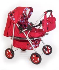 Детска количка за кукли А4 - Цвят: Червен