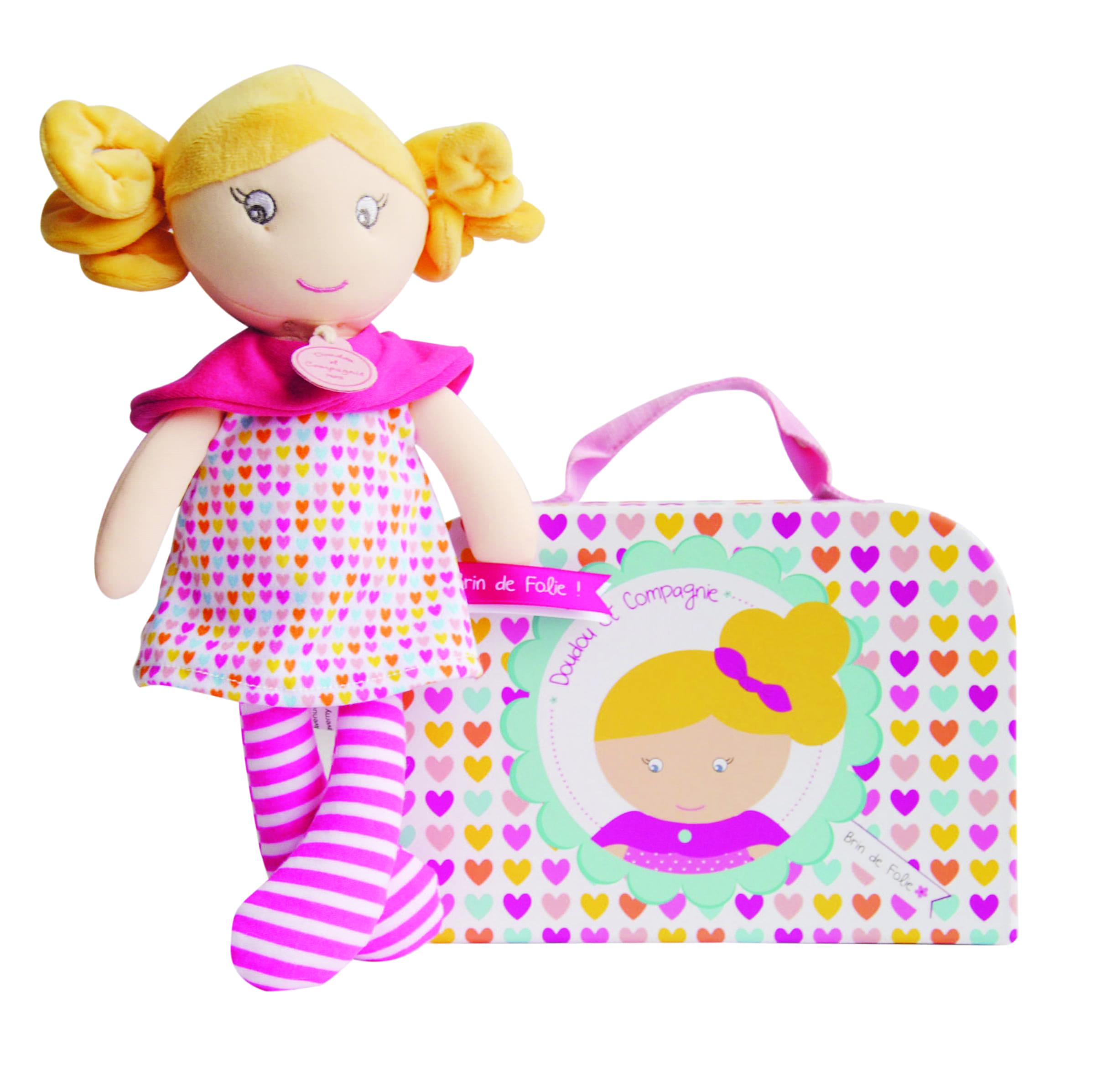 Doudou-текстилна кукла Госпожица Дуду:сърчица