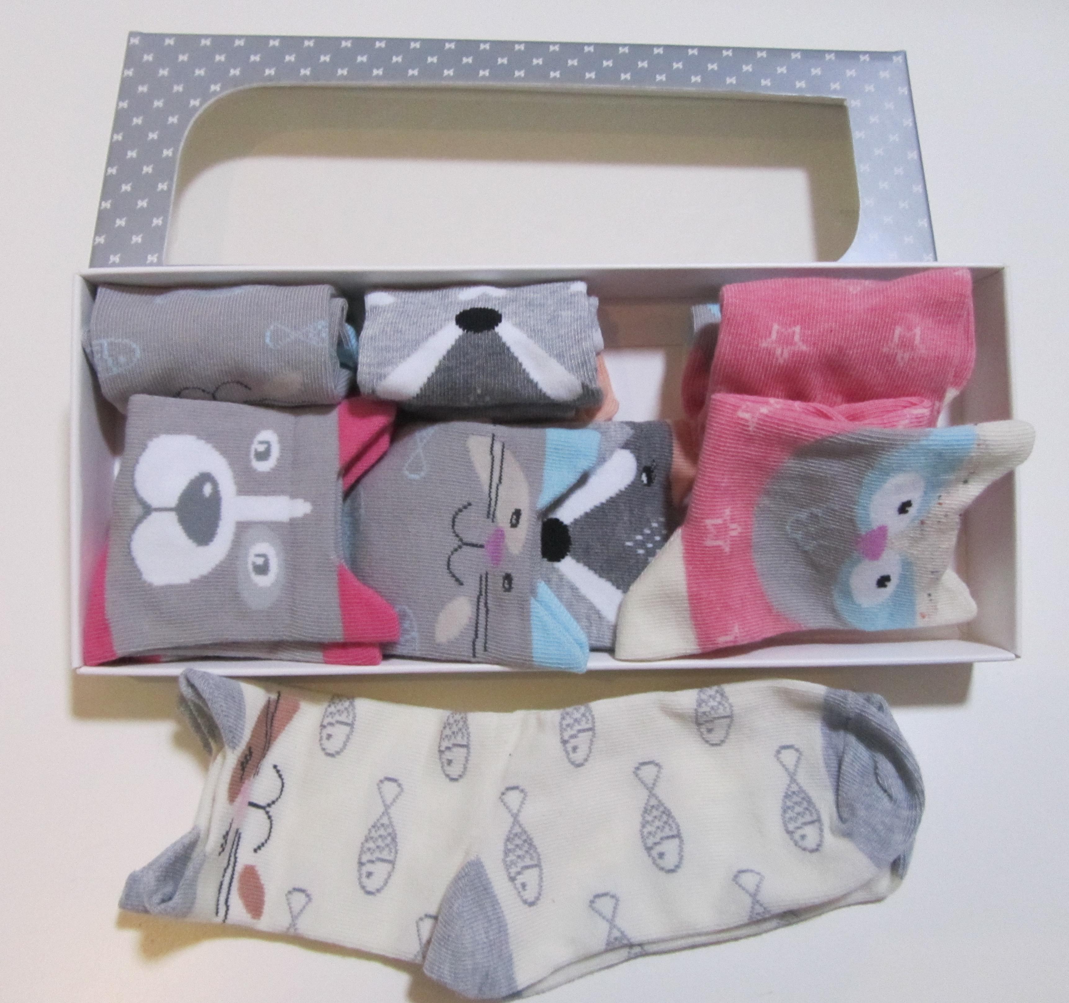 Steven- детски чорапи Zoo 5бр в кутия