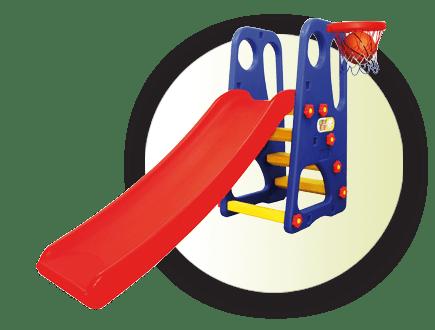 Детска пързалка с баскетболен кош JM705
