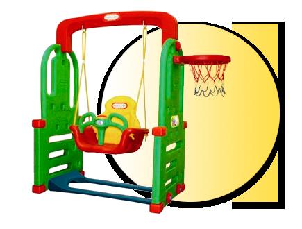 Детска люлка с баскетболен кош JM852