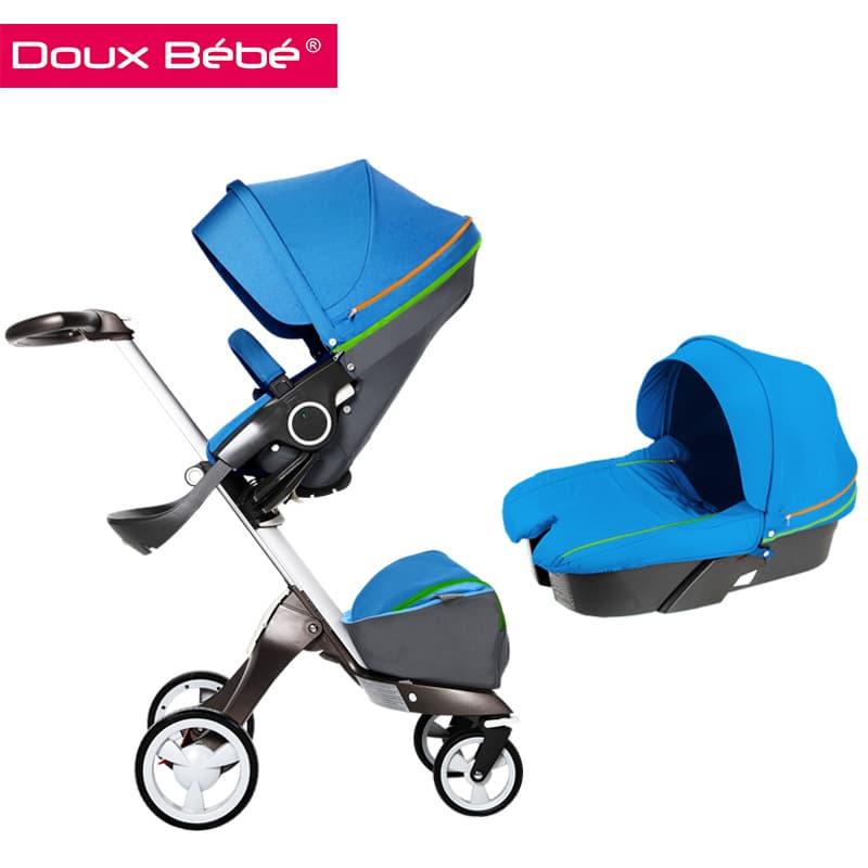Doux bebe-бебешка количка 2в1 Ultimate:light blue