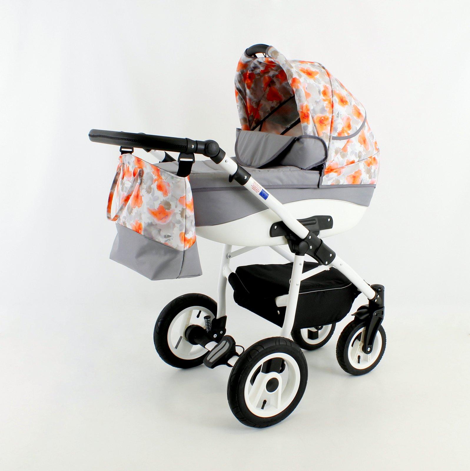Бебешка количка Nemo flowers 3в1 цвят: оранжев