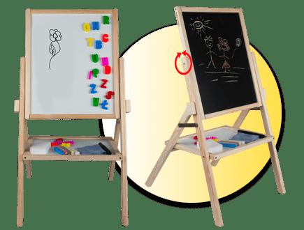 Въртяща дъска за писане с маркер и тебешири RBMN
