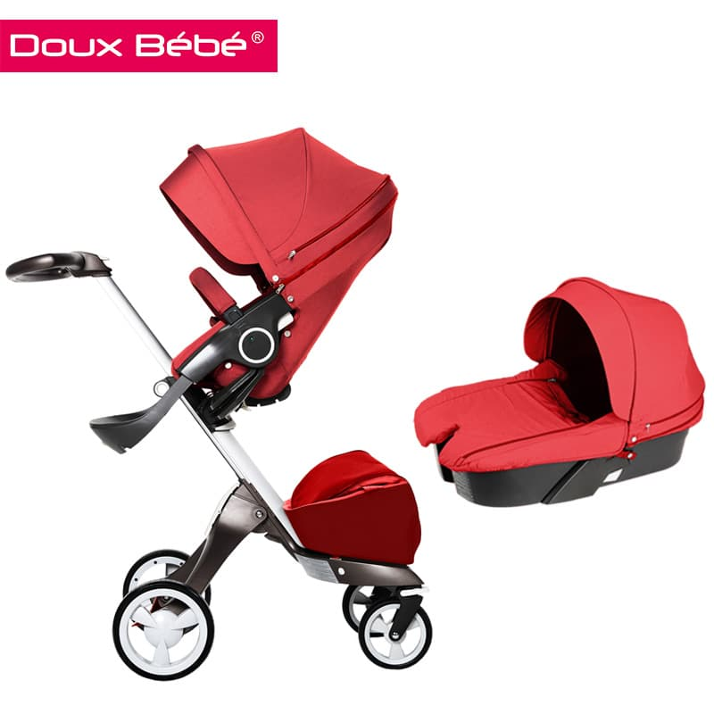 Doux bebe-бебешка количка 2в1 Ultimate:red