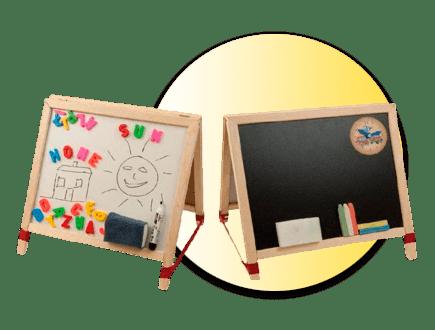 Двустранна дъска за писане с маркер и тебешири SB01