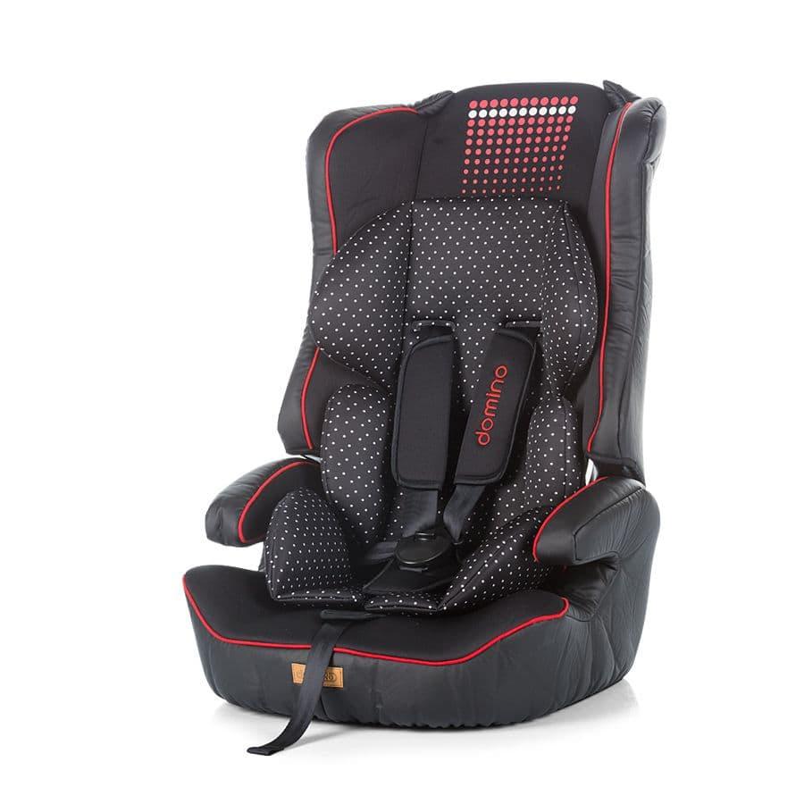 Chipolino-Стол за кола Domino 9-36 кг - Цвят: Червен/Черен
