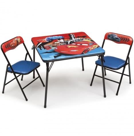 Детска маса с 2 столчета Cars-сгъваеми