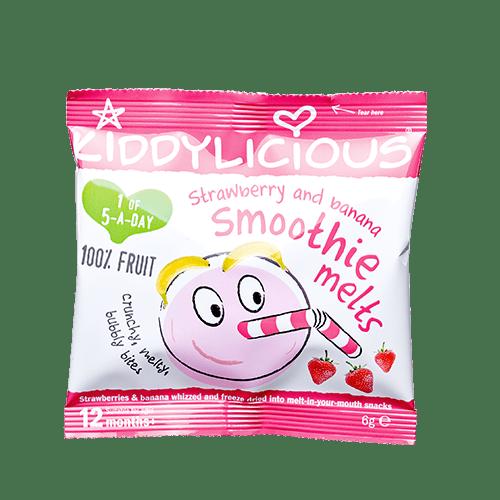Kiddylicious-Кубчета от плодово смути-ягода/банан 12м+