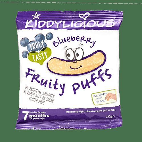 Kiddylicious-Царевични пръчици боровинка 7м+