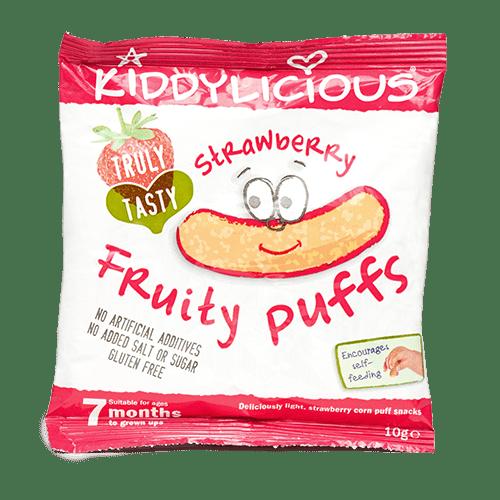 Kiddylicious-Царевични пръчици ягода 7м+