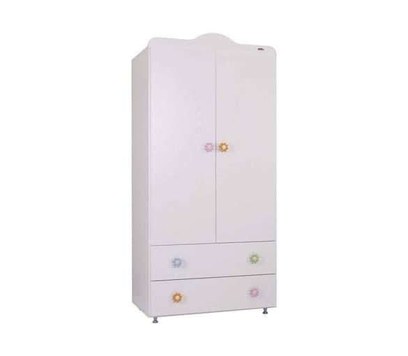 Babyhope-двукрилен гардероб 941 - Цвят: Бял