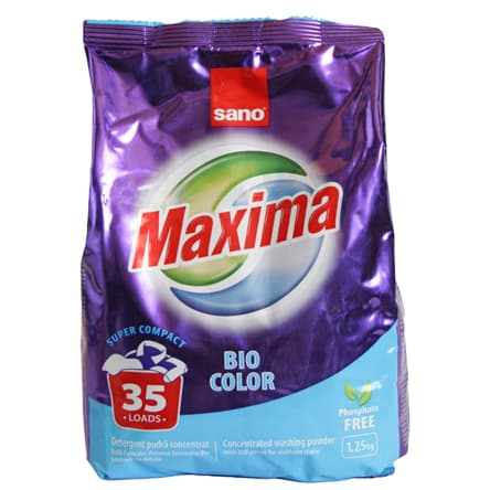 Sano-прах за пране Maxima Bio color 1.25кг