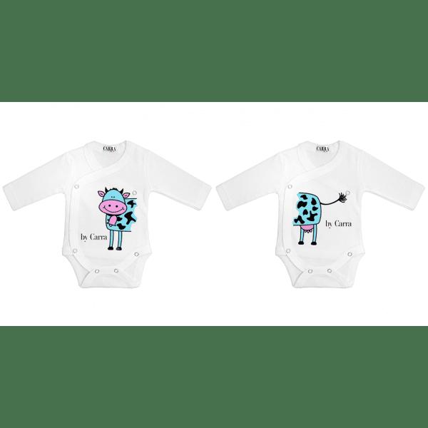 Carra-бебешко боди Double cow