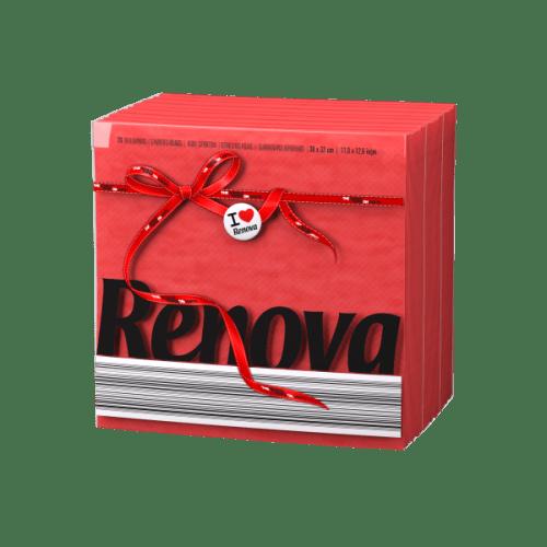 Renova-червени салфетки Е