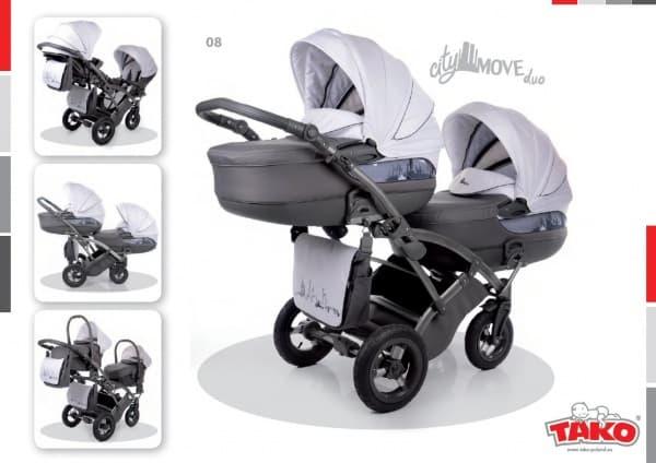 Бебешка количка за близнаци 3в1 Tako City Move