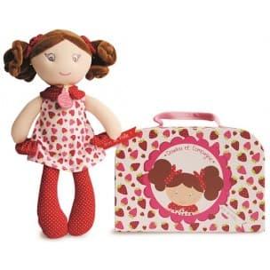 Doudou-текстилна кукла Госпожица Дуду:ягодки