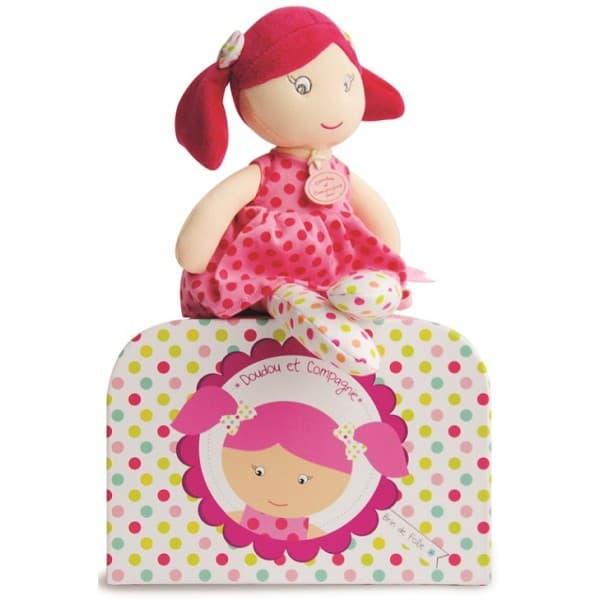 Doudou-текстилна кукла Госпожица Дуду:точици