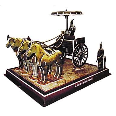 3D пъзел  Bronze chariots horses 64 части