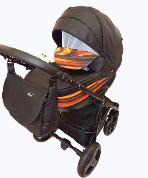 Бебешка количка 2в1 Bexa Ideal Fire black