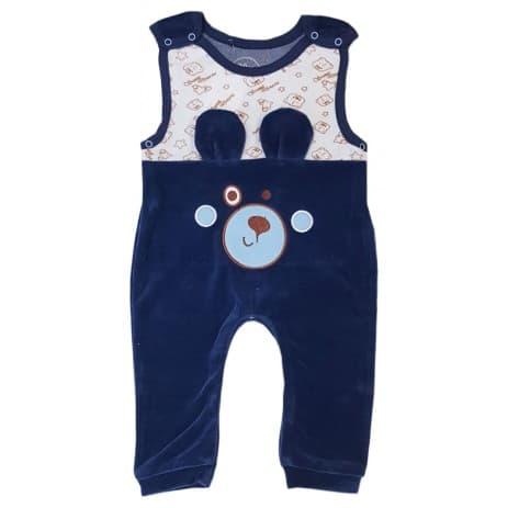 Viva baby-Плюшен гащеризон синьо Мече